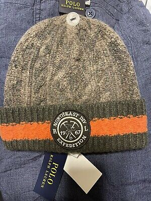 £82.92 • Buy New Polo Ralph Lauren Fisherman Expedition Patch Green Watchman Beanie Hat Cap