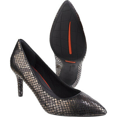 Rockport Womens/Ladies Total Motion 75MM Pointy Toe Leather Pumps • 59.26£