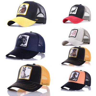 Fashion Animals Embroidery Baseball Caps Men Women Snapback Hip Hop Hat Summer B • 10.85£