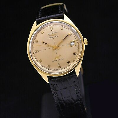 £1543.27 • Buy Longines Ultra-Chron 70s 18 Kt Gold 37 Mm Ref 7950 Automatic Serviced + Box