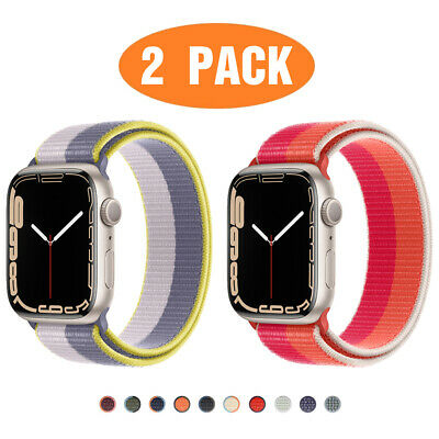 AU8.99 • Buy 2 PACK Nylon Sport Band Strap For Apple Watch 6 5 4 3 2 IWatch SE 38/42/40/44mm