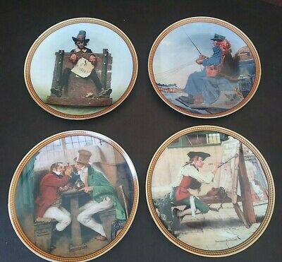 $ CDN50.29 • Buy Collectors Set Of 4 Edwin Knowles Norman Rockwell's Colonial China Plates 5-8