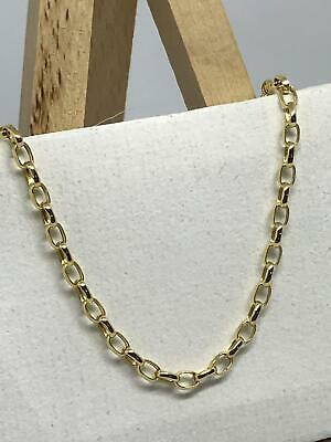 £114.90 • Buy 9ct 375 Hallmarked Yellow Gold 2mm Oval Belcher Link Chain Necklace Brand New