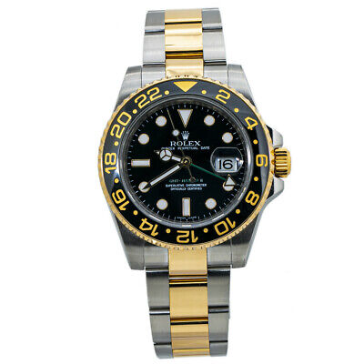 $ CDN17670.10 • Buy Rolex GMT Master II 116713LN Ceramic 18K Gold Stainless Steel With Papers 40MM