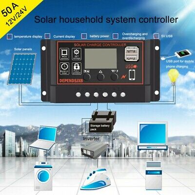 Solar Charge Controller 30A 60A Ultra Fast Power Point Auto Focus Tracking New • 8.59£