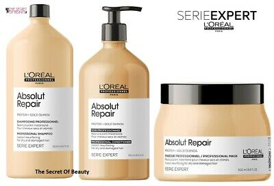 L'oreal Absolut Repair Gold Regenerating Shampoo For Dry Damaged  Hair 500ml  • 18.99£