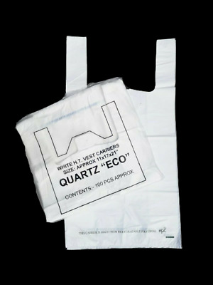 LARGE Biodegradable Plastic Carrier Bags Eco-Friendly OXO Degradable 11x17x21  • 5.59£