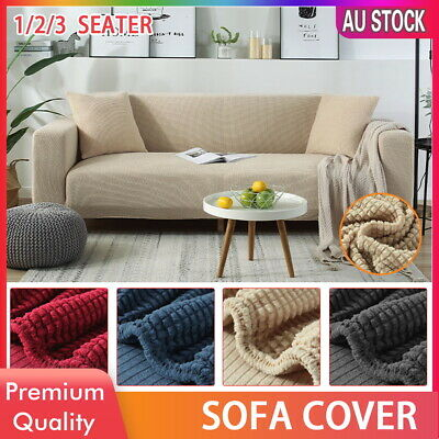 AU17.59 • Buy 1 2 3 Seater Sofa Covers Lounge Slipcover Stretch Protector Recliner Couch Chair