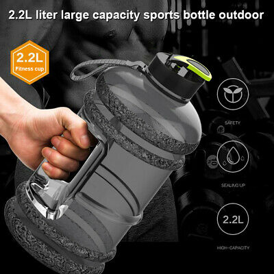 AU18.79 • Buy 2.2L Large Water Bottle Cap Big Drink Kettle For Sport Training Workout Gym RO