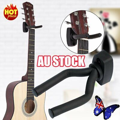 AU9.66 • Buy Guitar Wall Mount Bracket Hanger Padded Hook Mount Holder Ukulele Stand Rack AU