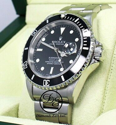 $ CDN14861.36 • Buy ROLEX Submariner 16610 Oyster Date SS Black Dial Watch *MINT Completed B/PAPER