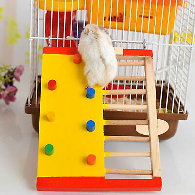 Hamster Wood Climbing Ladder Small Pet Guinea Pig Non-slip Stair Pet Toy New • 4.87£
