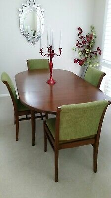 AU450 • Buy Genuine Parker Antique Extendable Dining Table With 6 Matching Chairs