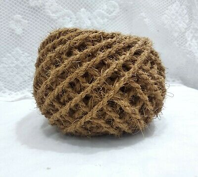 100% Natural Brown Jute Strong Twine String Cord Rope For Handmade Arts Craft  • 7.66£
