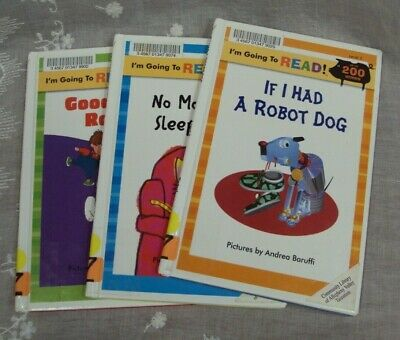 Lot/3 I'M GOING TO READ! READER ~ Had A Robot Dog NO MORE TV Good Dog Rover HC • 4.28£