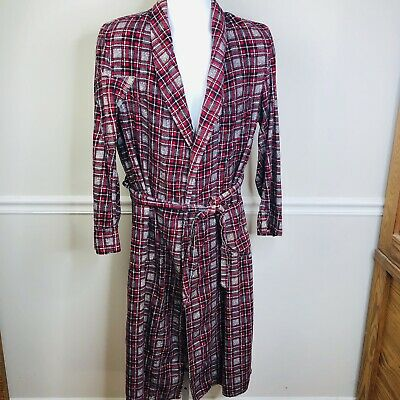 $29.95 • Buy Vintage Coast To Coast National Flannel Robe Plaid  USA Cotton Mens Small Flaws
