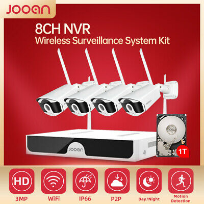 AU267.99 • Buy JOOAN 8CH HD CCTV Security Camera System Wireless Home Outdoor WIFI 3MP IR Cut