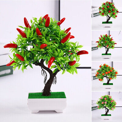 Mini Artificial Potted Plant Fruits Fake Small Pot Home Garden Decoration Supply • 7.81£