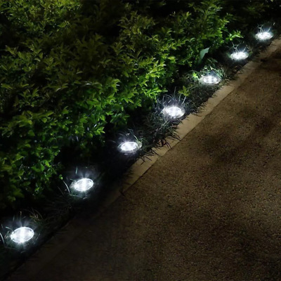 4PCS Solar LED Stake Lights Garden Border Post Outdoor Path Driveway Lighting UK • 8.86£