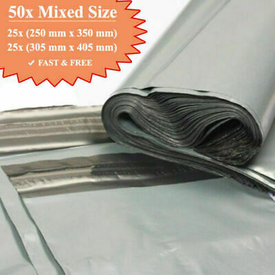 £3.89 • Buy 50 MIX MAILING GREY BAGS MIXED PARCEL PACKAGING 12 X 16 And 10 X 14 Cheapest UK