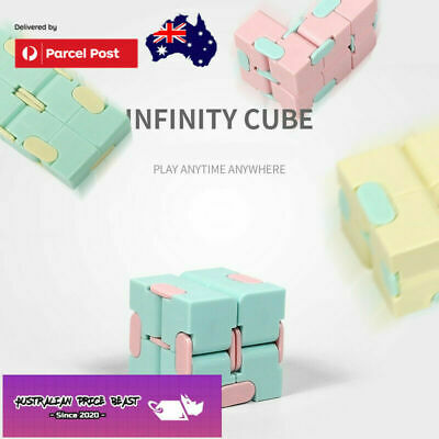 AU7.99 • Buy Fidget Infinity Cube Sensory Autism Anxiety Stress Relief Toys Gift