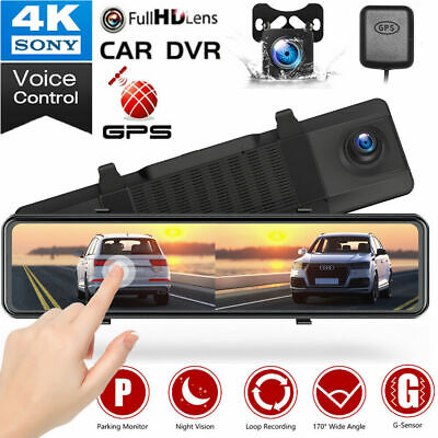 AU94.73 • Buy 10  Mirror Dash Cam TOGUARD RearView Car Streaming Touch Screen Dual Lens Camera