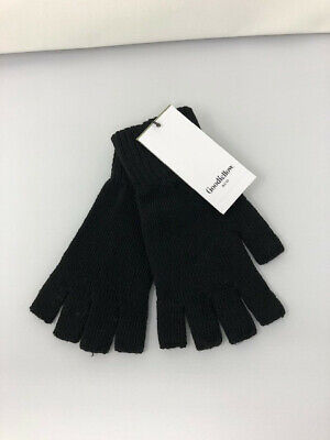 $4.70 • Buy Goodfellow & Co Fingerless Gloves Black Recycled Knit Winter Texting OS One Size