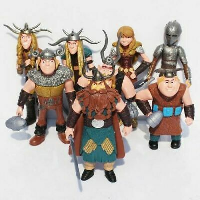 £8.87 • Buy 8 Pcs How To Train Your Dragon Figure Hiccup Stoick Astrid Toys Collection Gift