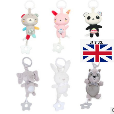 6 Designs Baby Buggy Hanging Rattles Stroller Car Seat Activities Toys   • 6.99£