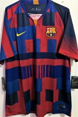 AU968.74 • Buy Jersey FC Barcelona #10 Lionel Messi Season 2018 / 2019 - Autographed By Players