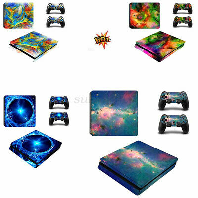 AU18.49 • Buy Skin Stickers For PS4 Sony Playstation 4 Slim Console 2 Controller Decal AU  NEW