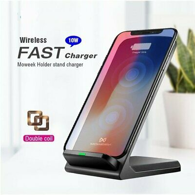 AU10.95 • Buy 10W Qi Wireless Charger Dock Stand For IPhone 12 11Pro XS XR Samsung S20 S10+ S9