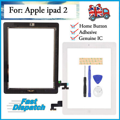 For White IPad 2 A1395 A1396 A1397 Touch Glass Digitizer Screen Replacement OEM • 12.23£
