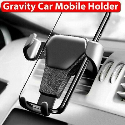 AU8.79 • Buy Universal Gravity Car Holder Mount Air Vent Stand Cradle For Mobile Cell Phone