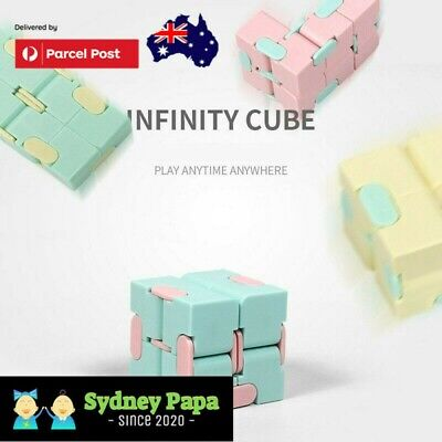 AU8.99 • Buy Infinity Magic Cube Puzzle EDC Fidget ADD ADHD Anti Anxiety EA Stress Relief Toy