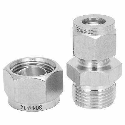 AU17.28 • Buy 2pc Compression Tube Adapter Straight Double‑Ferrule Reducer Union Ф10-Ф14 New