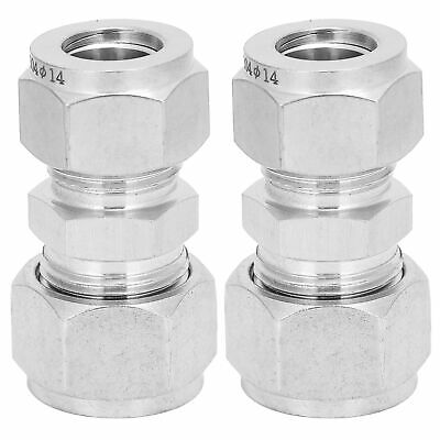 AU18.46 • Buy 2Pc Compression Tube Adapter Steel Double‑Ferrule Reducer Union Ф14-Ф16 New