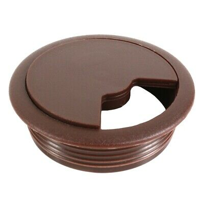 BROWN DESK GROMMET Cable Tidy Outlet Hole Cover Cap Office Computer Surface Port • 2.15£
