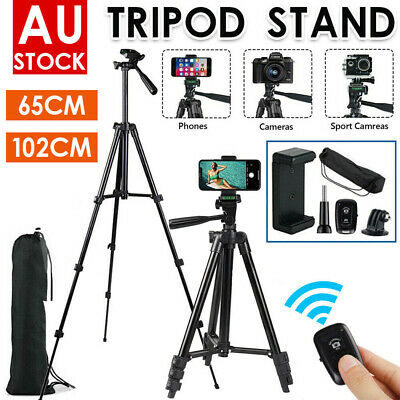 AU18.99 • Buy Professional Camera Tripod Stand Mount Remote + Phone Holder For IPhone Samsung