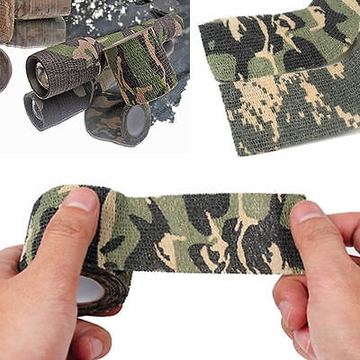 £1.10 • Buy Camo Wrap Tape Rifle Gun Camouflage Stealth Webbing Fabric Tape 4.5m