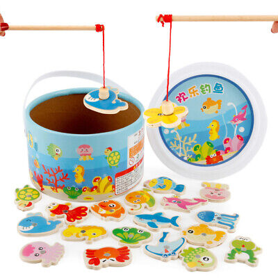 £10.46 • Buy Magnetic Fishing Game & Jigsaw Puzzle Board Wooden Educational Toys Kids Gift