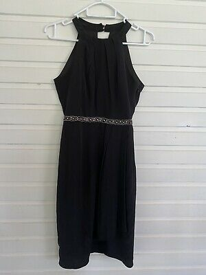 AU19.95 • Buy Forever New 100% Silk Black Dress Size 6