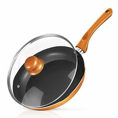 $33.40 • Buy  Non-stick Frying Pan Ceramic Coating Copper Aluminum Pan With Lid Gas 1