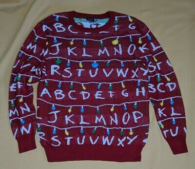 $26.99 • Buy Stranger Things Light Up Christmas Sweater Red Mens Size XL