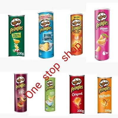£15.95 • Buy Pringles Original Flavour Potato Crisps Chips Snack Can Tubes - Pack Of 6 X 200g