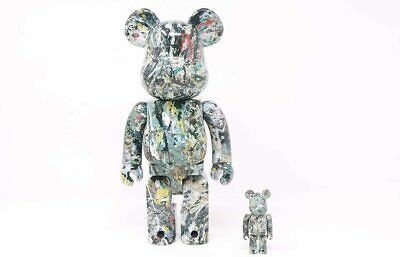 $460 • Buy Be@rbrick  Medicom X Jackson Pollock Studio Ver.2.0  Bearbrick Japan 100% & 400%