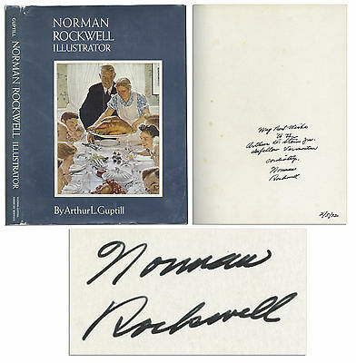 $ CDN350.87 • Buy Norman Rockwell Signed Illustrator Book W Inscription