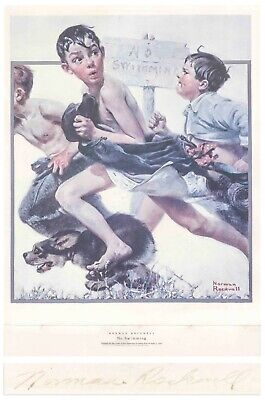 $ CDN1275.90 • Buy No Swimming Norman Rockwell Large Signed Print