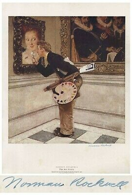 $ CDN1253.20 • Buy Art Critic Norman Rockwell Large Signed Print