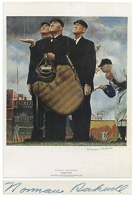 $ CDN3827.70 • Buy Norman Rockwell Large Signed Print Tough Call Baseball